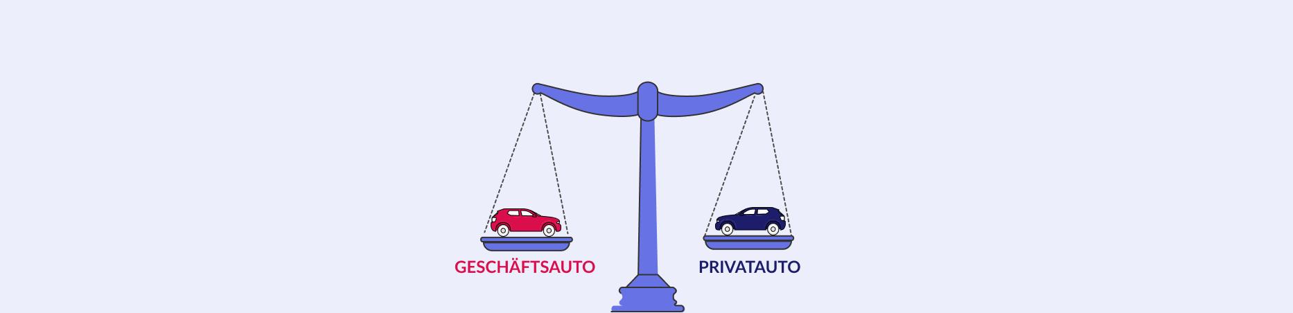 Vergleich von Geschäftsauto und Privatauto