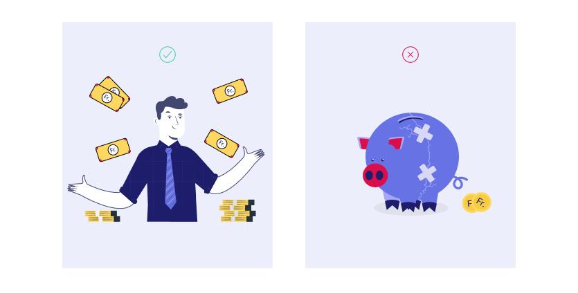 Verfügen Sie über ausreichende Geldressourcen